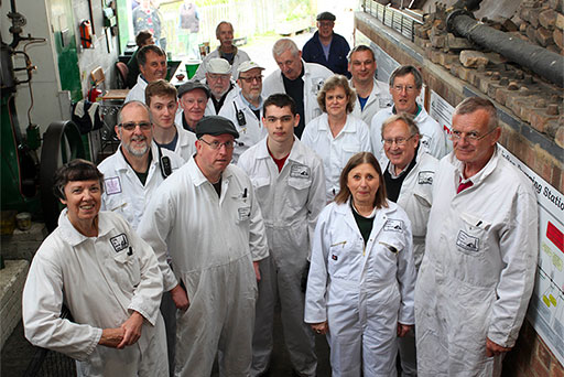 The team of volunteers at Crofton Beam Engines